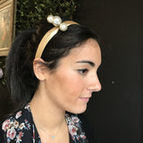 Hairbands - Gold Pearl