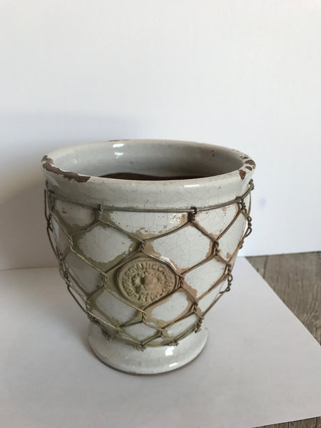 Kew Footed Vase with Wire / Planter Pot