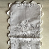 Baby Burp Cloth Pad (Grey Cherub)