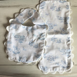 Baby Cotton Handmade Bib (Nursery Blue Bear)