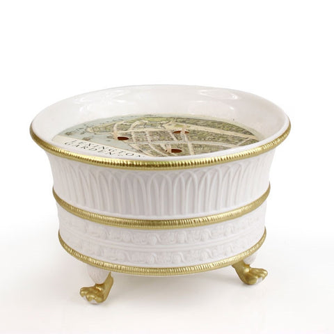 Lexington Gardens Luxury 3 Wick Ceramic Candle - White and Gold