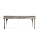 Nadine Wooden Desk Drawer Dining Table
