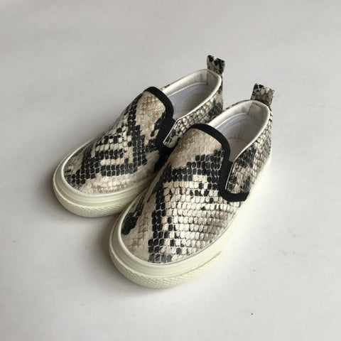 Kids Shoes - Faux Snake Skin Slip On Sneakers