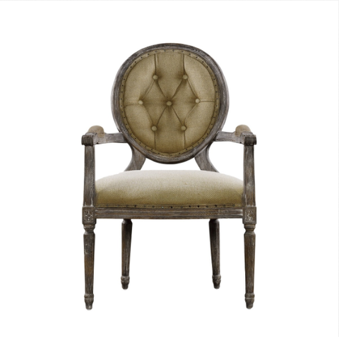 SK Collection Chair | VINTAGE LOUIS ROUND BUTTON ARM CHAIR