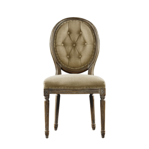 SK Collection Chair | VINTAGE LOUIS ROUND BUTTON SIDE CHAIR (Pair)