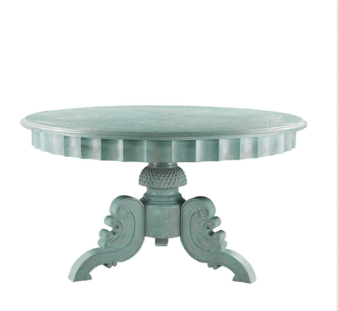 SK Collection Dining Table | FRENCH ROBINS EGG BLUE ROUND TABLE 55""