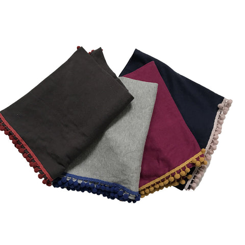 Kids Scarves - Pom Pom Shawl - Assorted