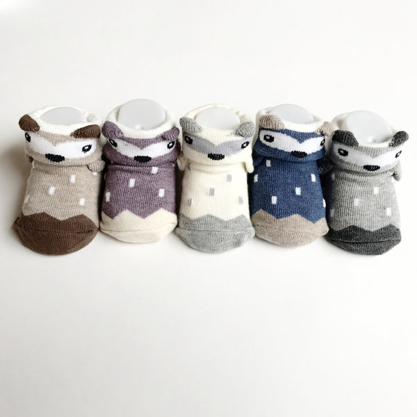 Toddler Socks - Cute Bears and Polka Dots Box Set