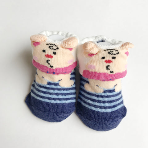 Toddler Socks - Smiley Piggy