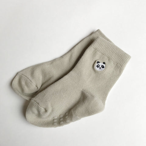 Toddler No-Slip Ankle Socks - Cute Panda Bear