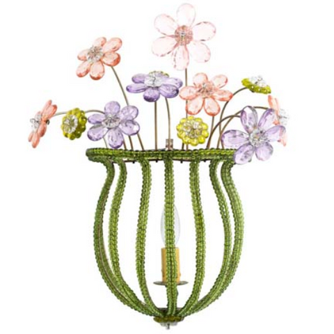"Crystal Sconce ""Bouquet"""