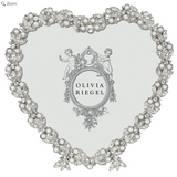 "OLIVIA RIEGEL Contessa Heart 3.5"" Pearl and Swarvorski Crystals Photo Frame"