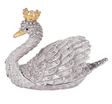 OLIVIA RIEGEL Swan Decorative Box with Swarovski® crystals and Gold Crown