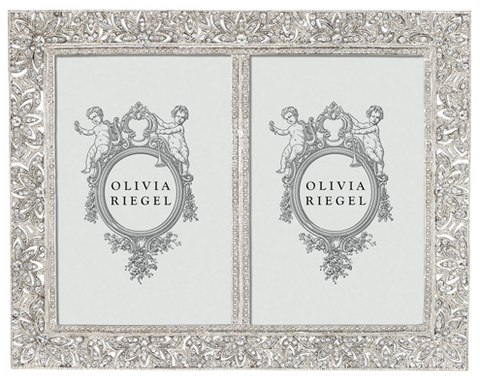 "OLIVIA RIEGEL Windsor Double 4x6"" Swarvorski Crystal Frame"