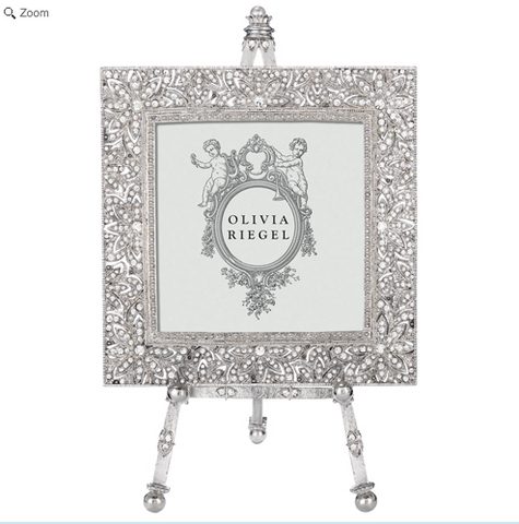 "OLIVIA RIEGEL Windsor 4x4"" Swarvorski Crystal Frame on Easel"