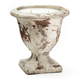 Urn Candle - Tuscan Signature Distressed Terra Cotta -Tuscan Currant, Large