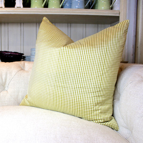 "SK Collection Pillow ""Silk Gingham Green"""
