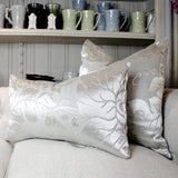 "SK Collection Pillow ""Silver Leaves"" Square"