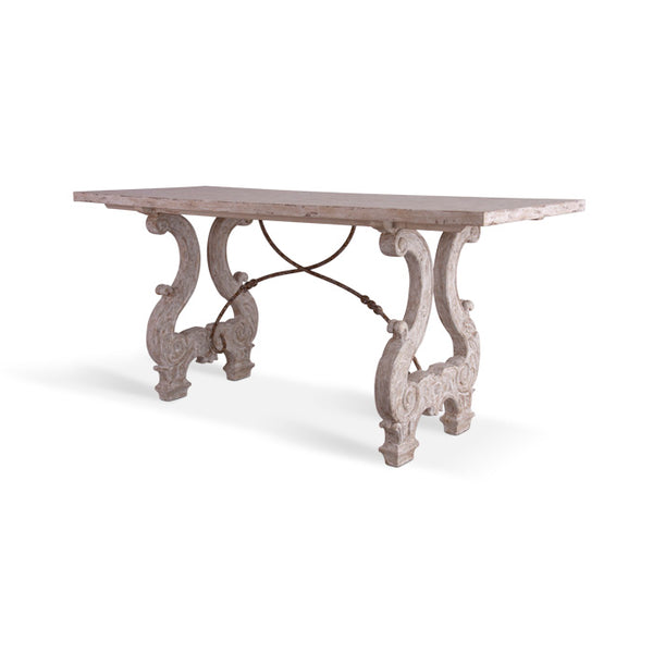 Italian Lyre Console Table
