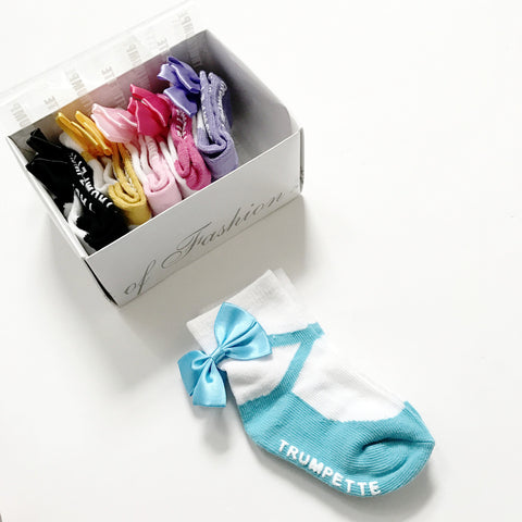 Toddler Socks - Mary Jane with Bow Box Set