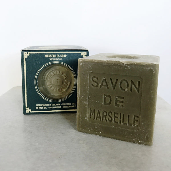 Green Soap in Paper Box - Marsilles Soap with Olive Oil