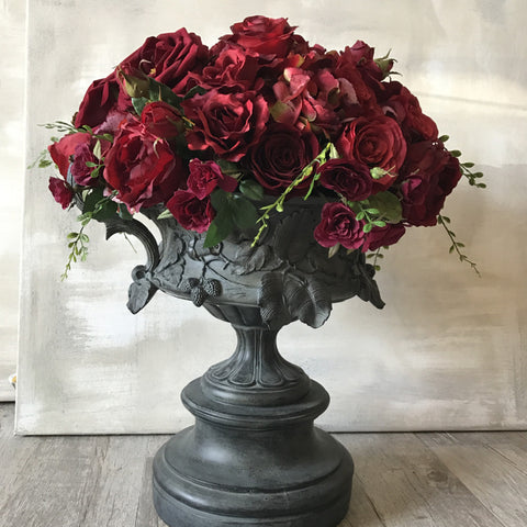 Red Rose Urn Floral Arrangement