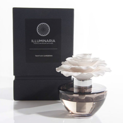 Illuminaria Porcelain Diffuser in Gray Bottle - Tahitian Gardenia