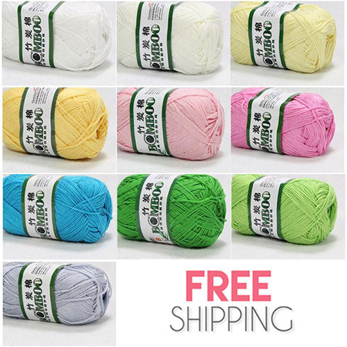 10x50g Of Soft Smooth Natural Bamboo Cotton / Baby Cotton Yarn