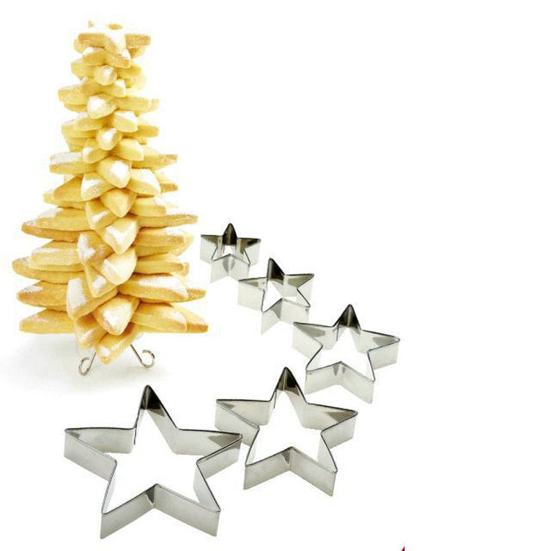 3D Christmas Tree Cookie Cutter Set