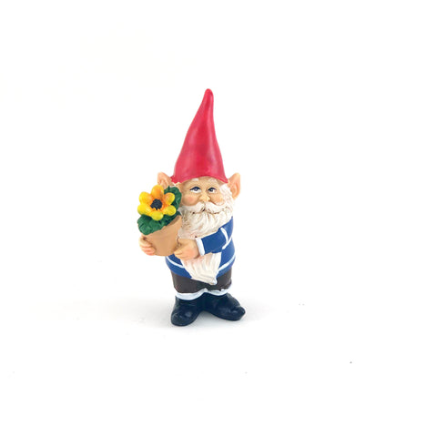 Small gnome with pot