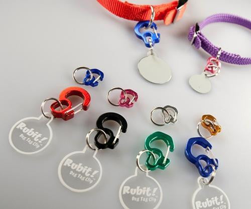 Rubit! Dog Tag Clip - Removeable ID Tag Holder