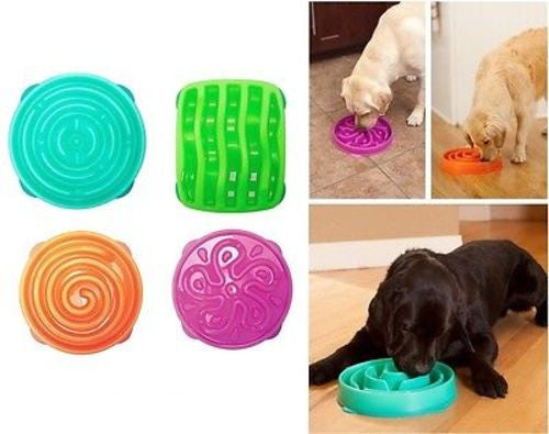 Dog Games SLO-BOWL Slow Feeder Dish - Orange Coral