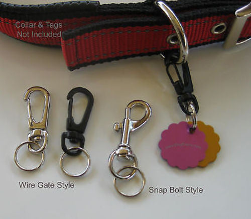 DOG TAG CLIP Removable ID Holder