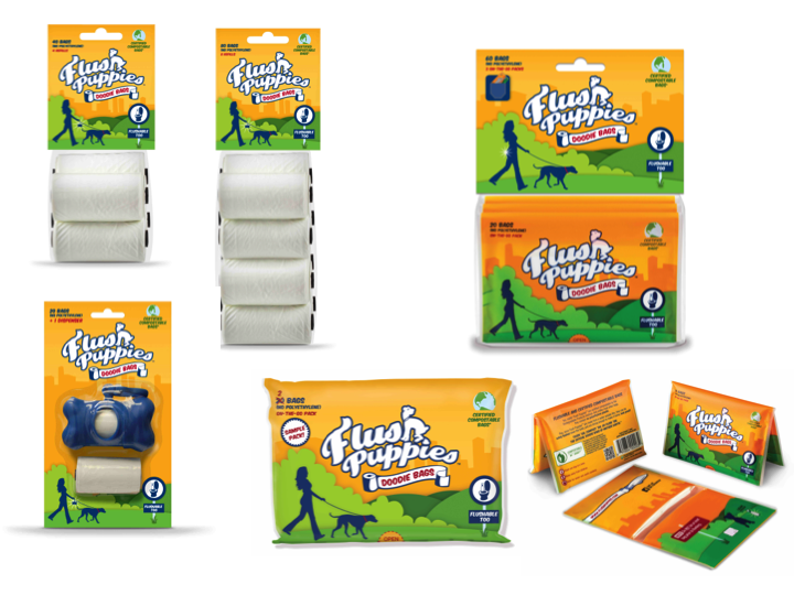 FLUSH PUPPIES Doodie Bags - Flushable Compostable