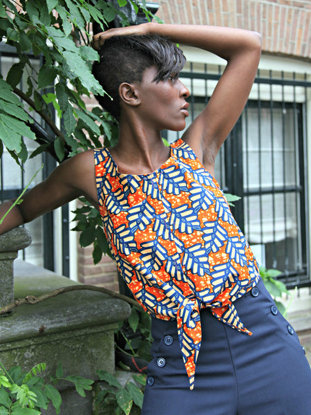 Ampenkro Wrap Top Orange