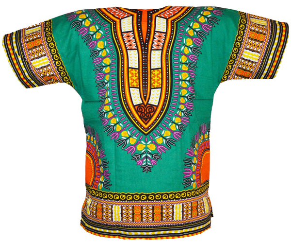 Green Dashiki Shirt