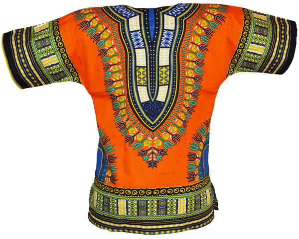 Orange Dashiki Shirt