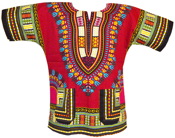 Dark Red Dashiki Shirt