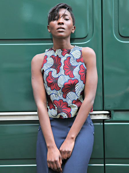 Ampenkro Wrap Top Flowers