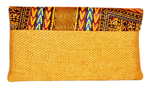 Brown African Clutch Bag