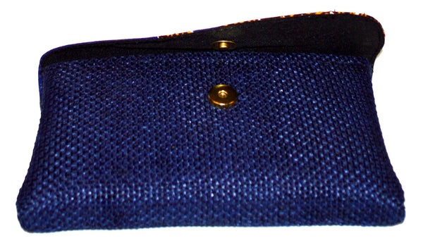 D-Blue Small African Clutch