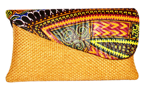 Brown Small African Clutch