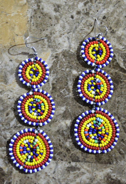 Tri-CY Massai Earrings