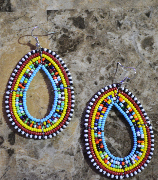 LBlue-O Massai Earrings