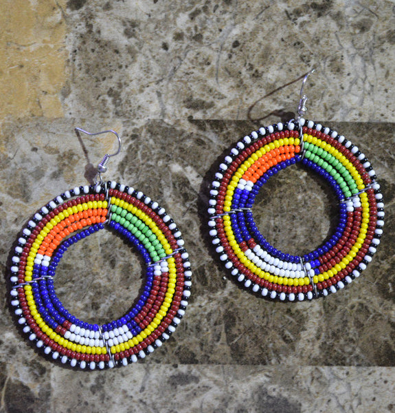 B&Blue-C Massai Earrings