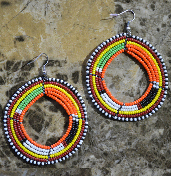 Yellow-C Massai Earrings