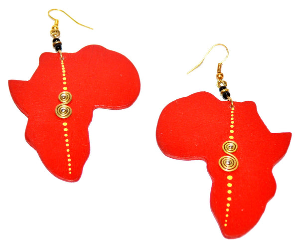 Red Africa Earrings