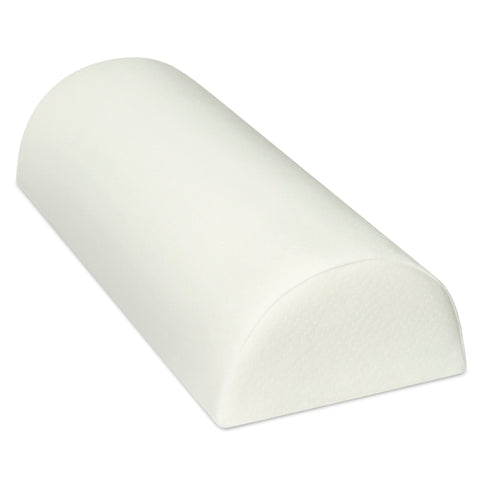 Image of D-Roll Knee Memory Foam Pillow for Back Pain - Half Moon Bolster Pillow - Provides Relief and Support for Sleeping on Side, Stomach or Back - Semi Roll Leg Pillow Wedge (16.5 x 7 x 4)