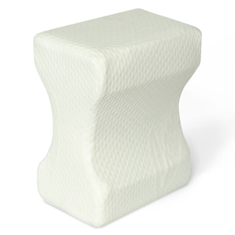 Knee Pillow for Side Sleepers - Memory Foam Wedge Contour with Washable Cotton Cover - Back Pain, Pregnancy Support - Sciatica, Hip, Joint, Surgery Pain Relief (10 x 7.5 x 5.5)