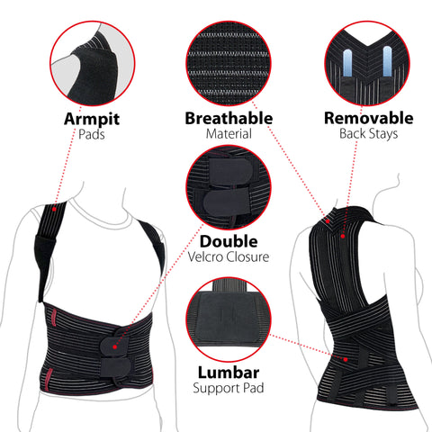Image of Comfort Posture Corrector Back Brace Clavicle and Shoulder Support